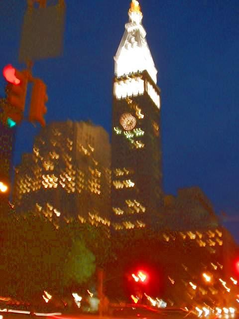 Вечер, дома на Union Square