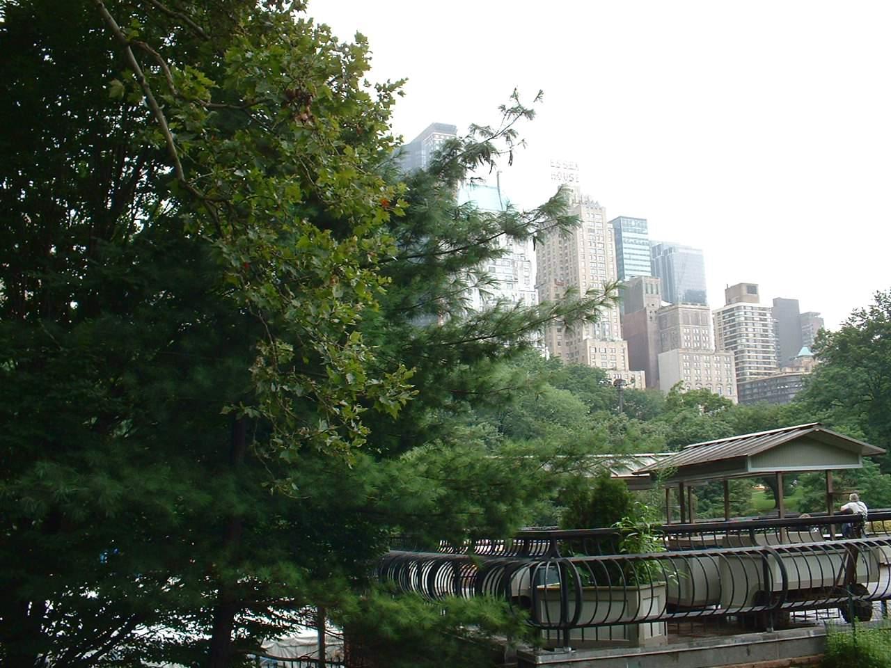 Со всех сторон к Центральному Парку примыкают небоскребы