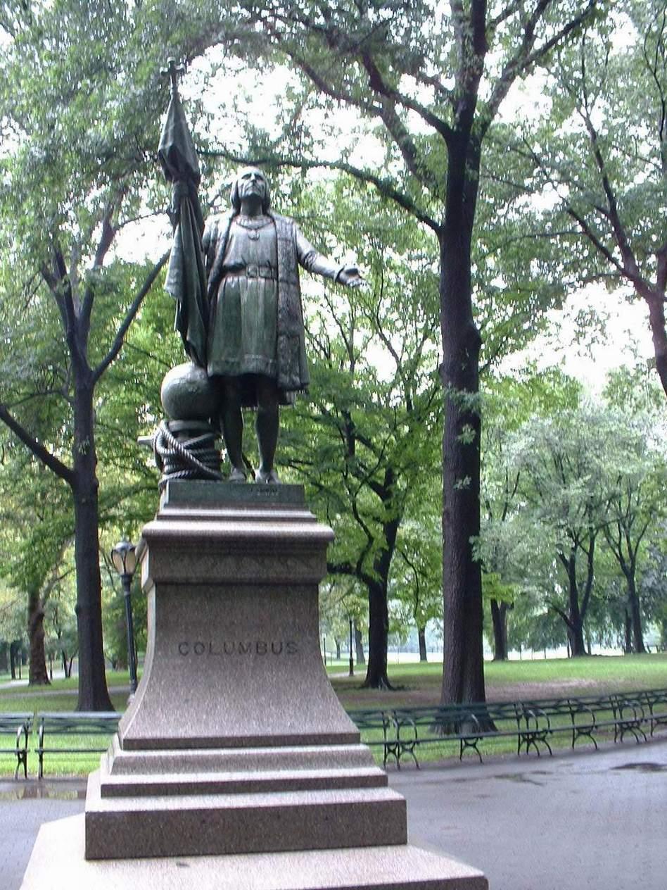 Памятники в Центральном Парке - Христофор Колумб
